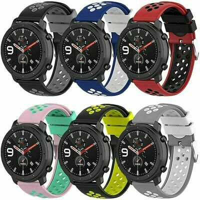 £3.78 • Buy 22mm Silicone Band Strap Bracelet Accessories For Samsung/Ticwatch/Huawei/Huami