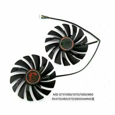 £17.49 • Buy 2X Cooler Cooling Fan For MSI GTX1080/1070/1060/960/RX470 480 570 580 GAME Card