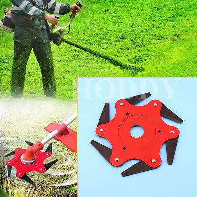 AU27.83 • Buy Outdoor 6 Steel Trimmer Head Blades Razors 65Mn Lawn Mower Grass Weed Cutter Red