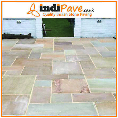 £400 • Buy Raj Green Calibrated Project Pack 20.70m2 Indian Sandstone Paving Stone IN STOCK