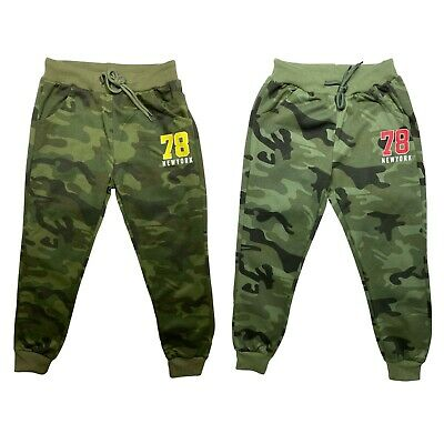 £6.99 • Buy Boys Joggers Jogging Bottoms Kids Camo Camouflage Army Tracksuits Sport New York