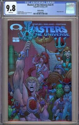 $299.95 • Buy Masters Of The Universe 1 Cgc 9.8 Holofoil Variant Wrap Around 2003 Scarce!