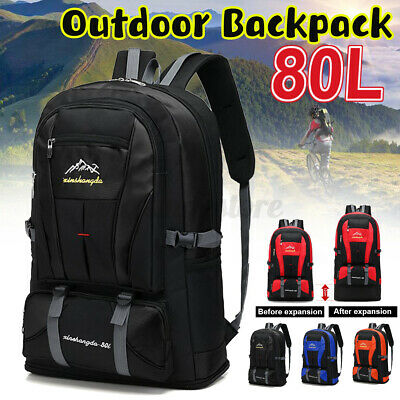 AU19.99 • Buy 80L Light Waterproof Outdoor Sports Large Backpack Camping Hiking Travel Bag AU