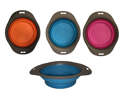 Collapsible Pop Up Dog Cat Pet Bowl Food Water Feeding Dish Portable Travel • 2.95£
