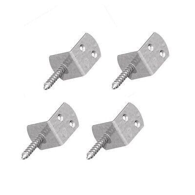 £4.99 • Buy Galvanised Screw In Fence Panel Clips Decking Brackets - Easy To Install Galv