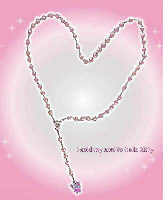 £15 • Buy Hello Kitty Fairy 90s Indie Aesthetic Mismatched Rosary Pastel Goth Necklace