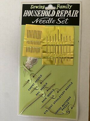 £2.40 • Buy Upholstery Sewing Needles, Household  Needle Set-carpet/sail/sack/curved..