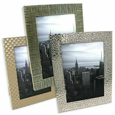 £3.99 • Buy 7x5 Photo Frame, Gold And Silver, Freestanding And Wall Mountable Picture Frames