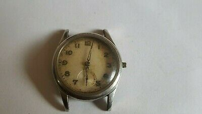 $ CDN36.53 • Buy VINTAGE RARE Swiss Made Watch 15 Jewels Rubis Incabloc Military WWII All Steel !
