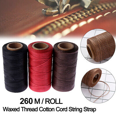 £5.99 • Buy 260M 1mm Sewing Waxed Thread 150D Hand Stitching Cord For DIY Leather Handicraft