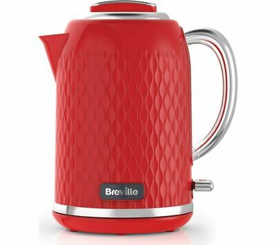 £33.99 • Buy Breville Curve Jug Kettle, 3000 W, 1.7 Litres, Red - VKT119 -- 1 Year Guarantee