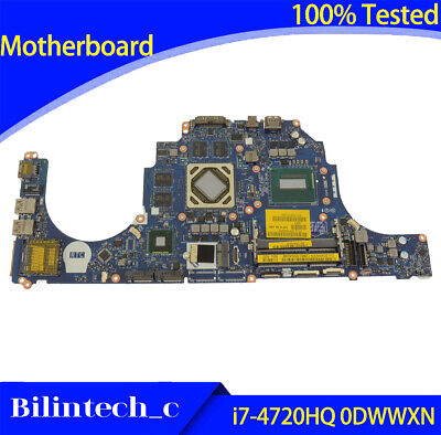 $ CDN442.91 • Buy FOR DELL Alienware 15 R1 17 R2 Motherboard Supports I7-4720HQ 0DWWXN DWWXN
