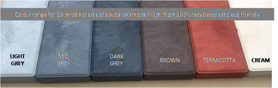 £32.50 • Buy Coloured Plastic Block Paving Slabs UK Made - 100% Recycled Plastic Eco Friendly