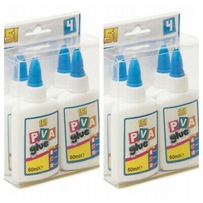 PVA Glue Bottles Washable Safe Glue Ideal School Craft Home Office NON Toxic • 3.68£
