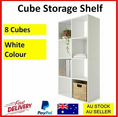 AU57.85 • Buy 8 Cube White Shelf Display Bookshelf Bookcase Storage White Rack Wooden Shelving