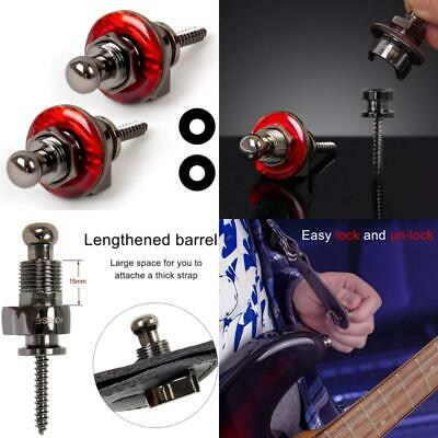 $ CDN25.08 • Buy Guitar Strap Locks Straplocks Buttons For Electric Bass Guitar Parts (1 Set, Red