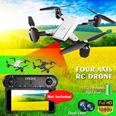 AU92.66 • Buy RC Four Axis Drone Selfie WIFI Double Cmer 1080P HD Foldble RC Qudcopter  U