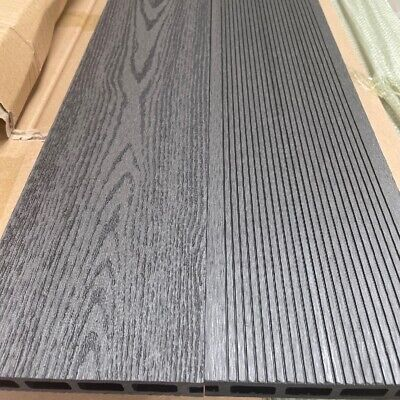 £19.80 • Buy Charcoal Grey Grooved Topped Composite Decking | 25 Boards | 10 Square Metres