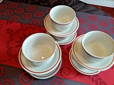 £3 • Buy Set Of Three Vintage Soup/ Cereal/ Bowls With Stand - Made By Churchill China -