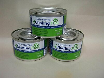 £9.55 • Buy 3 X Ethanol Chafing Gel Fuel Catering 4 Hr Burning BBQ Buffet Camping Parties