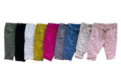 £12.99 • Buy Ladies Womens Casual Stretch Cycling Shorts Summer Knee Length Pants Sizes10-22