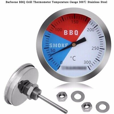 £4.99 • Buy 300℃ 2'' Steel Barbecue BBQ Smoker Grill Thermometer Temperature Gauge