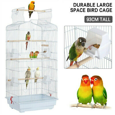 £31.99 • Buy Large Metal Bird Cage For Budgie Parrot Parakeet Canary Cockatiel Finch Lovebird
