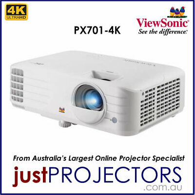 AU1499 • Buy Viewsonic PX701-4K 4K Projector From Just Projectors Aussie Release 3 Year Wrnty