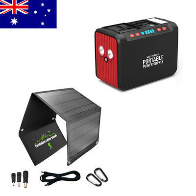 AU289 • Buy Solar Power Generator Energy Storage Power Bank Supply With Solar Panels Charger
