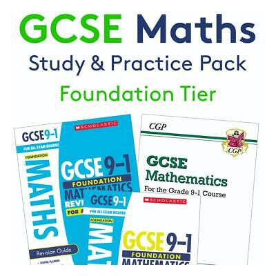£20.95 • Buy GCSE Maths Revision Books [FOUNDATION]   Complete Study & Practice   All Boards