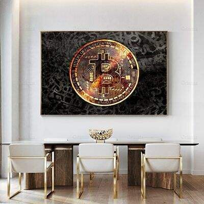 AU36.80 • Buy Bitcoin Wall Art Canvas Painting Pictures Inspirationnal Prints Poster Modular