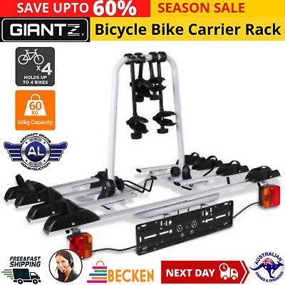 AU293.34 • Buy 4 Bicycle Tow Bar Bike Carrier Steel Frame Car Bicycle Rack With Tow Ball Mount