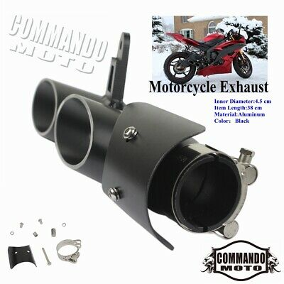 $61.37 • Buy For Yamaha YZF R6 GSXR750 Motorcycle Dual-outlet Exhaust Tail Pipe Muffler Tip