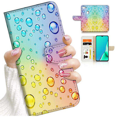 AU12.99 • Buy ( For Oppo A73 ) Flip Wallet Case Cover PB24221 Water Drop Rainbow