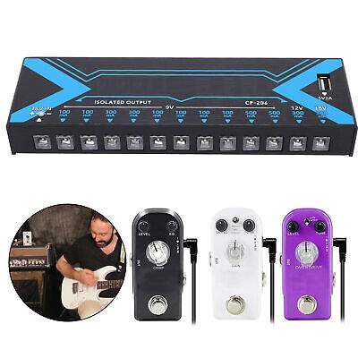 $ CDN80.57 • Buy 12 Outputs Guitar Effect Pedal Power Supply Kit & Adapter Cable For Guitarist