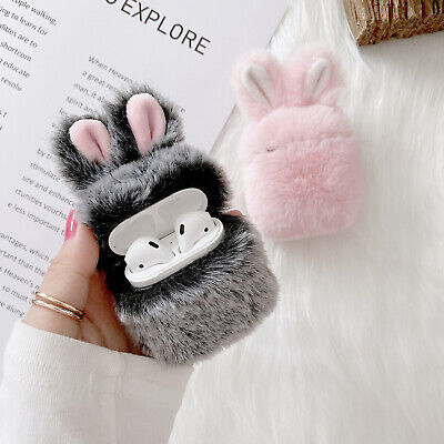 AU12.58 • Buy For Apple AirPods Pro & 1/2 Cute Plush Bunny Ears Shockproof Case Cover