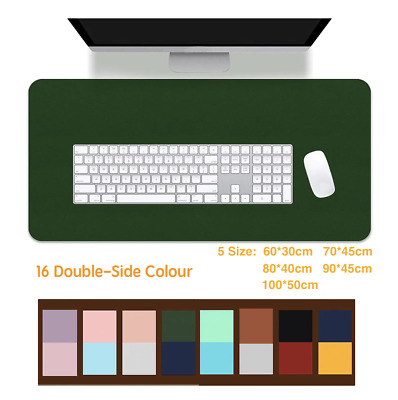 AU25.95 • Buy Large Leather Gaming Keyboard Mouse Pad Double-sided Waterproof Office Desk Mat