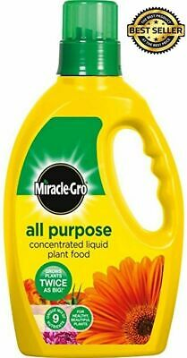 £12.47 • Buy 2x1L MIRACLE-GRO GROW ALL PURPOSE LIQUID PLANT FOOD FEED CONCENTRATED FERTILISER