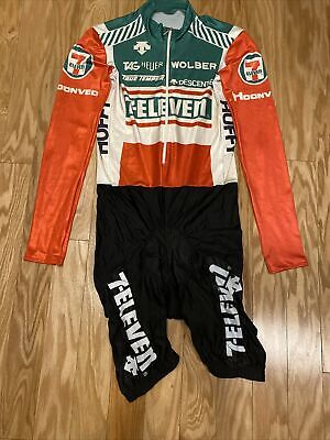 AU396.60 • Buy 1980s 7-Eleven Giro Tour Skinsuit Vintage Descente ESW 7 Eleven Cycling Team