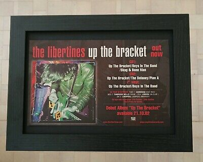 £15.99 • Buy LIBERTINES Up The Bracket A4 Frame Promo Poster Press Advert