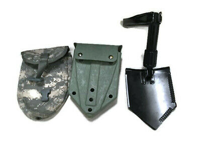 $32.75 • Buy  US Army Military AMES Entrenching Folding E-Tool Shovel & Used ACU Cover