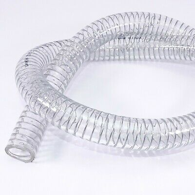 £5.30 • Buy Heavy Duty Braided Wire Reinforced Clear Flexible PVC Hose Pipe - Water Air Fuel
