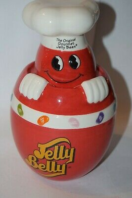 £10.62 • Buy Mr. Jelly Belly Red Ceramic Candy Jar Original Gourmet Jelly Bean 2006