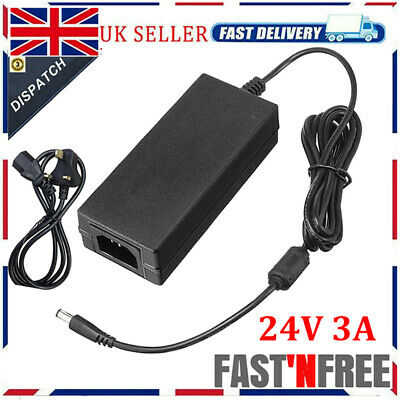 £12.29 • Buy 24V 3A 72W AC/DC Switching Power Supply Pack Adapter Charger For Desktop PSU UK
