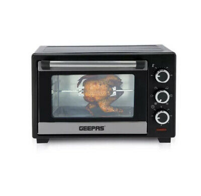 £59.99 • Buy Geepas 25L Mini Oven Grill & Rotisserie Wire Rack Compact Powerful Cooker