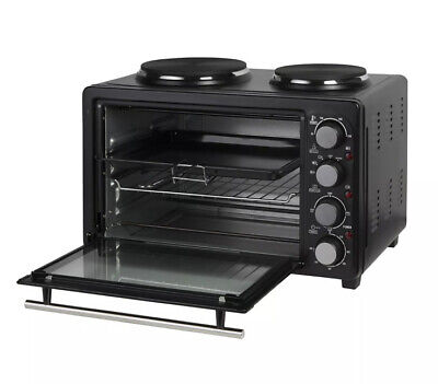 £94.21 • Buy Mini Oven Grill Rotisserie Wire Rack Compact Powerful Cooker With Hot Plates 28L