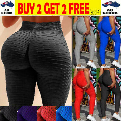 AU16.98 • Buy Womens Yoga Pants Butt Lift Leggings Sports Gym Fitness Anti Cellulite Trousers-