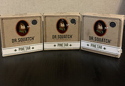 £22.30 • Buy Dr. Squatch Pine Tar Soap - LOT OF 3