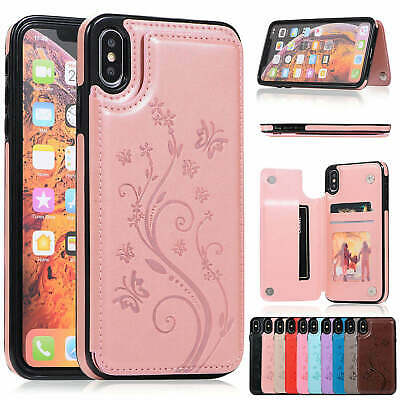 AU11.69 • Buy For IPhone 11 XS Max XR 8 Plus Magnetic PU Leather Wallet Card Holder Stand Case