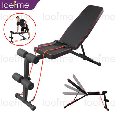 £42.99 • Buy Weight Bench Adjustable Home Gym Workout Exercise Flat Incline Decline Sit Up